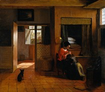 Pieter de Hooch  - Interior with a Mother delousing
