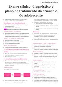 Odontopediatria - Exame clínico