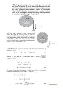 Movimento plano de corpos rígidos - Cap 16 e 17