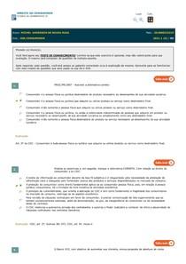 Teste de Conhecimento 3 - Direito do Consumidor