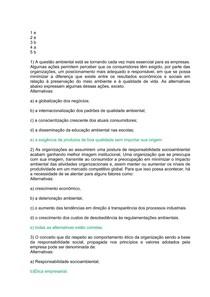 Av 1   Especialização em Gestão, Licenciamento e Auditoria Ambiental   Gestão de Responsabilidade Socio Ambiental