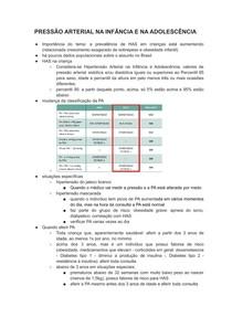 PRESSÃO ARTERIAL NA INFÂNCIA E NA ADOLESCÊNCIA