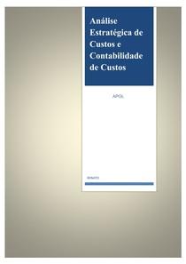 APOL Análise Estratégica de Custos e Contabilidade de Custos