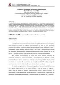 RELATÓRIO QG II - ESTEQUIOMETRIA