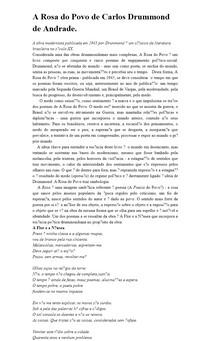 A Rosa do Povo de Carlos Drummond de Andrade
