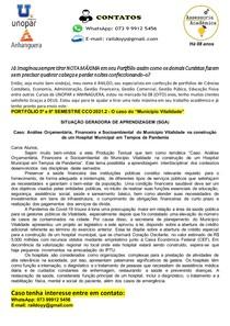 PORTFÓLIO 5º e 6º SEMESTRE CCO 2021 2 - O caso do Município Vitalidade