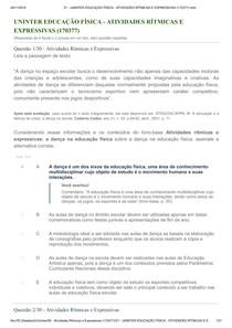 UNINTER EDUCAÇÃO FÍSICA - ATIVIDADES RÍTMICAS E EXPRESSIVAS (170377) html