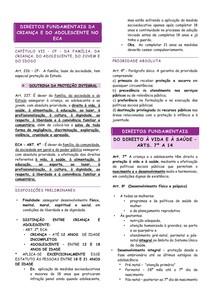 RESUMO - ECA - 02 - DIREITOS FUNDAMENTAIS DA CRIANÇA E DO ADOLESCENTE NO ESTATUTO DA CRIANÇA E DO ADOLESCENTE