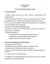 Metodologia - Metodologia do Ensino do Futebol e Futsal f20b9e54f0344