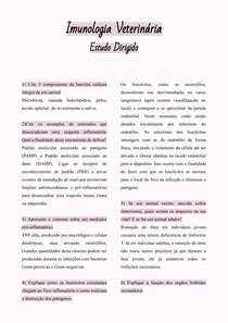 ESTUDO DIRIGIDO - IMUNOLOGIA