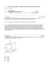 Av2 2014.1 - Princípio da Ciência e Tecnologia dos Materias