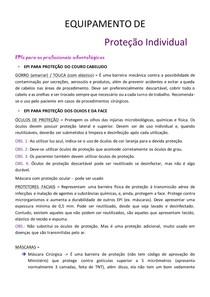 Equipamento de Proteção Individual - Biossegurança 2