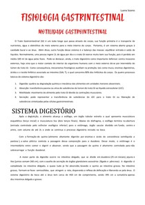 FISIOLOGIA GASTRINTESTINAL MOTILIDADE GASTROINTESTINAL