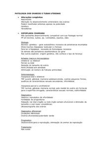PATOLOGIA DOS OVARIOS E TUBAS UTERINAS