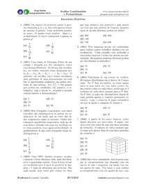 ENEM Exercícios - Análise Combinatória