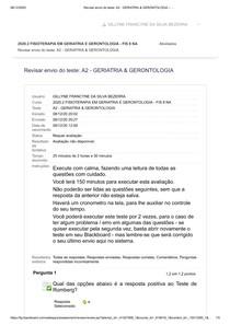 PROVA N2- GERIATRIA & GERONTOLOGIA .._