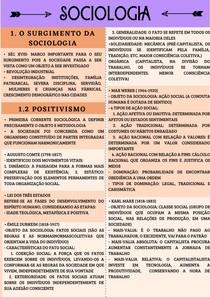 RESUMO DE SOCIOLOGIA