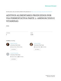 ADITIVOS ALIMENTARES PRODUZIDOS POR VIA FERMENTATIVA PARTE 2