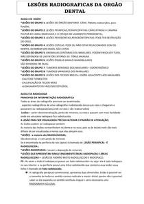 LESÕES RADIOGRAFICAS DA ORGÃO DENTAL