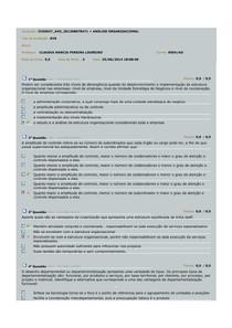 AVS analise organizacional 2014 avs