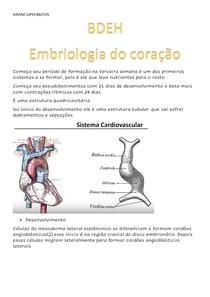 Embriologia do coração