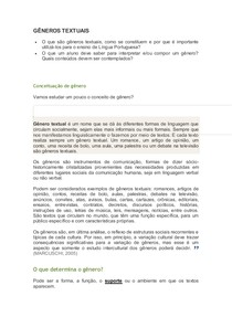 Analise Textual - G-¦ÊNEROS TEXTUAIS-CONCEITO