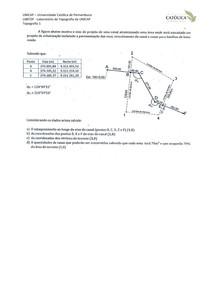 Unicap - Topografia 1- Exercícios - Coordenadas Áreas Exercício 15 (Labtopope)