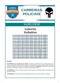 AlfaCon simulados carreiras policiais simulado 14 01 2018 gabarito definitivo