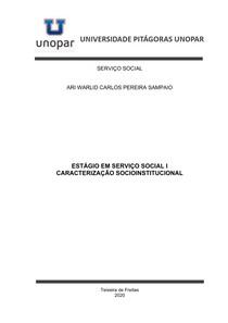 ESTÁGIO EM SERVIÇO SOCIAL I