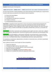 Função Óssea - Questão Comentada (Concurso)