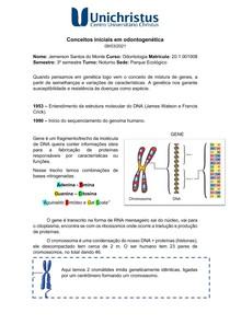 Conceitos iniciais em odontogenética - Mitose
