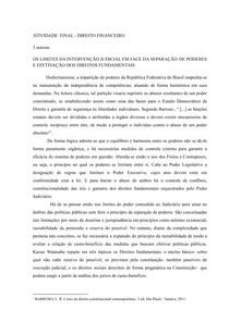 ATIVIDADE FINAL - DIREITO FINANCEIRO