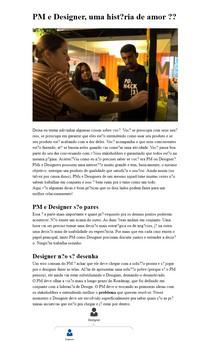 PM e Designer, uma história de amor