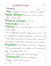 Leishmaniose Visceral - Resumo