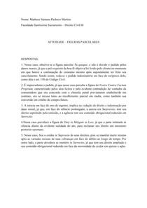 ATIVIDADE FIGURAS PARCELARES - DIREITO CIVIL III