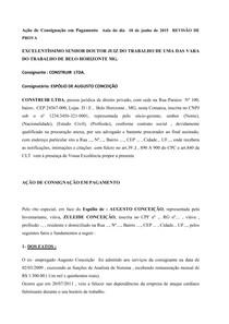 Ação de Consignação em Pagamento  Aula do dia  10 de junho de 2015  REVISÃO DE PROVA
