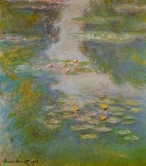 Water Lilies green - Claude Monet