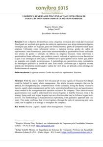 LOGÍSTICA REVERSA DE PÓS-VENDA COMO ESTRATÉGIA DE FORTALECIMENTO DA EMPRESA ERICSSON DO BR