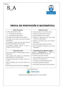 Matematica e português