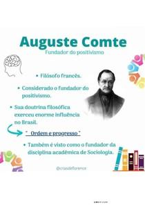 Auguste Comte - Sociologia em saúde