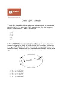 Leis de Kepler - Exercícios