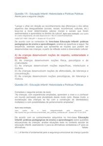 APOL Educação Infantil Historicidade e Políticas Públicas