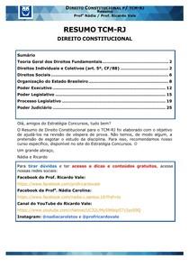 RESUMO CONSTITUCIONAL - ESTRATÉGIA CONCURSOS