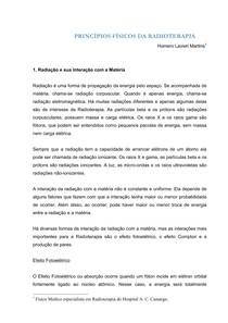 APOSTILA Radioterapia PRINCIPIOS FISICOS