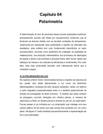 Análise Instrumental. Cap 4 - Polarimetria