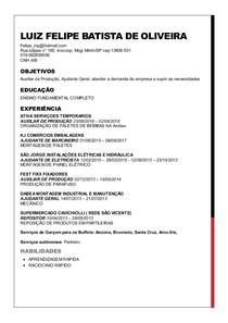 Luiz felipe batista de oliveira curriculo