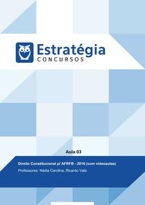 AULA 03 - Direito Constitucional - Estratégia Concursos