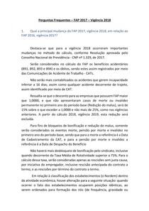 Perguntas Frequentes FAP 2017 vigencia 2018