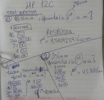Como calcular as taxas Efetivas e Equivalentes na HP12C