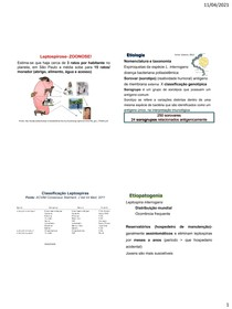 Roteiro infecciosas Leptospirose 2021